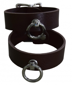 ankle cuffs buffalo leather braun