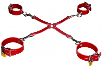 bondage set red Hand & Ankle Cuffs