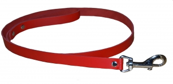 BDSM Leather Leash - red