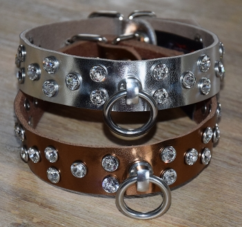 Premium metallic effect Collar with Swarovski Crystals
