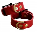 hand cuffs buffalo leather red