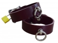 hand cuffs buffalo leather bordeaux