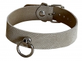 Leather Collar snake beige