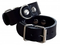 hand cuffs buffalo leather black