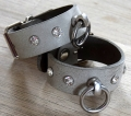 hand cuffs buffalo leather Swarovski