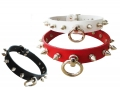 BDSM Leather Collar with O-ring ...
