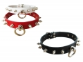 BDSM Collar with O-ring and litt...